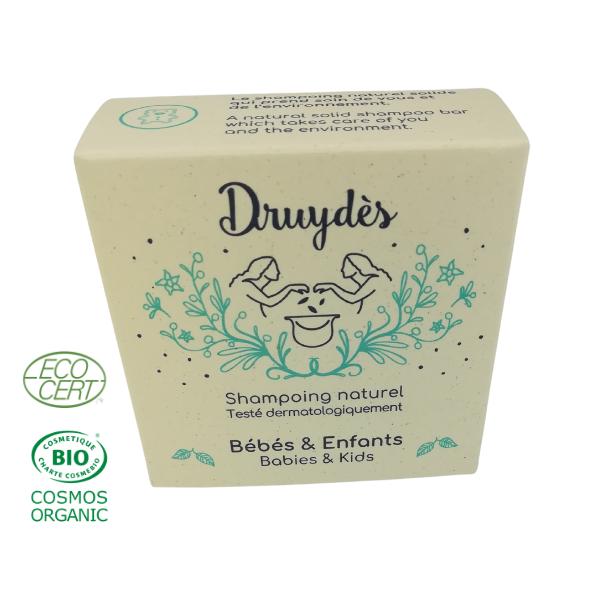 Shampoing solide bébés et enfants en vrac ingrédients Bio -(70g)