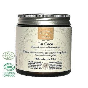 La coco- huile végétale de coco Bio-(120ml)-comptoir des huiles