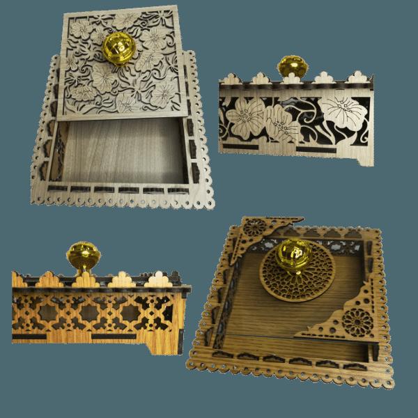Boite carré artisanale