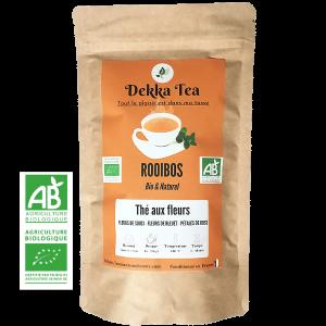 Thé rouge BIO (Rooibos) - Thé aux fleurs à la saveur Mangue-Orange
