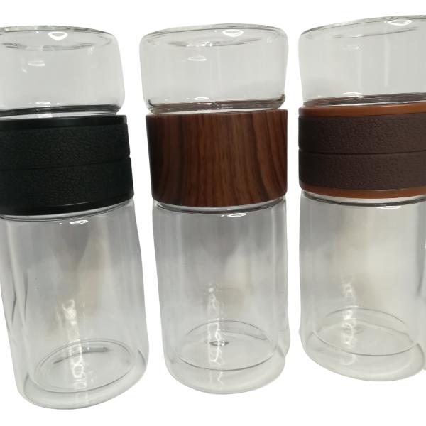 infuseur isotherme en verre-double paroi, deux compartiments